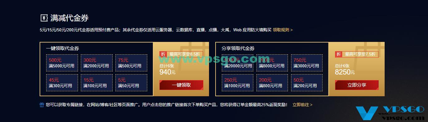 腾讯云新春采购季代金券