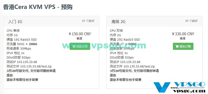 WikiHost香港Cera VPS