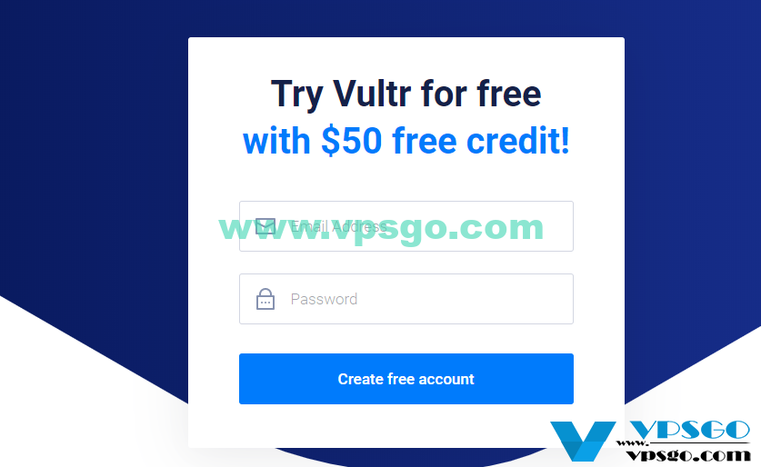 Vultr注册送免费50美元