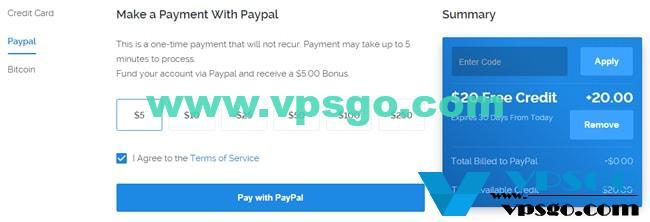 Vultr新用户免费20美元