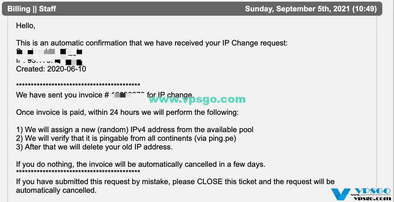 搬瓦工更换IP工单