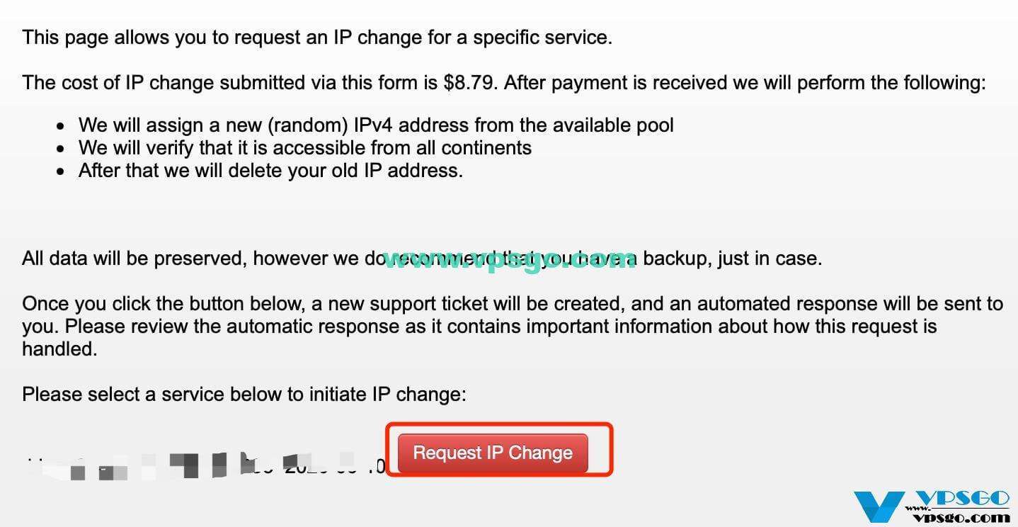 搬瓦工更换IP请求