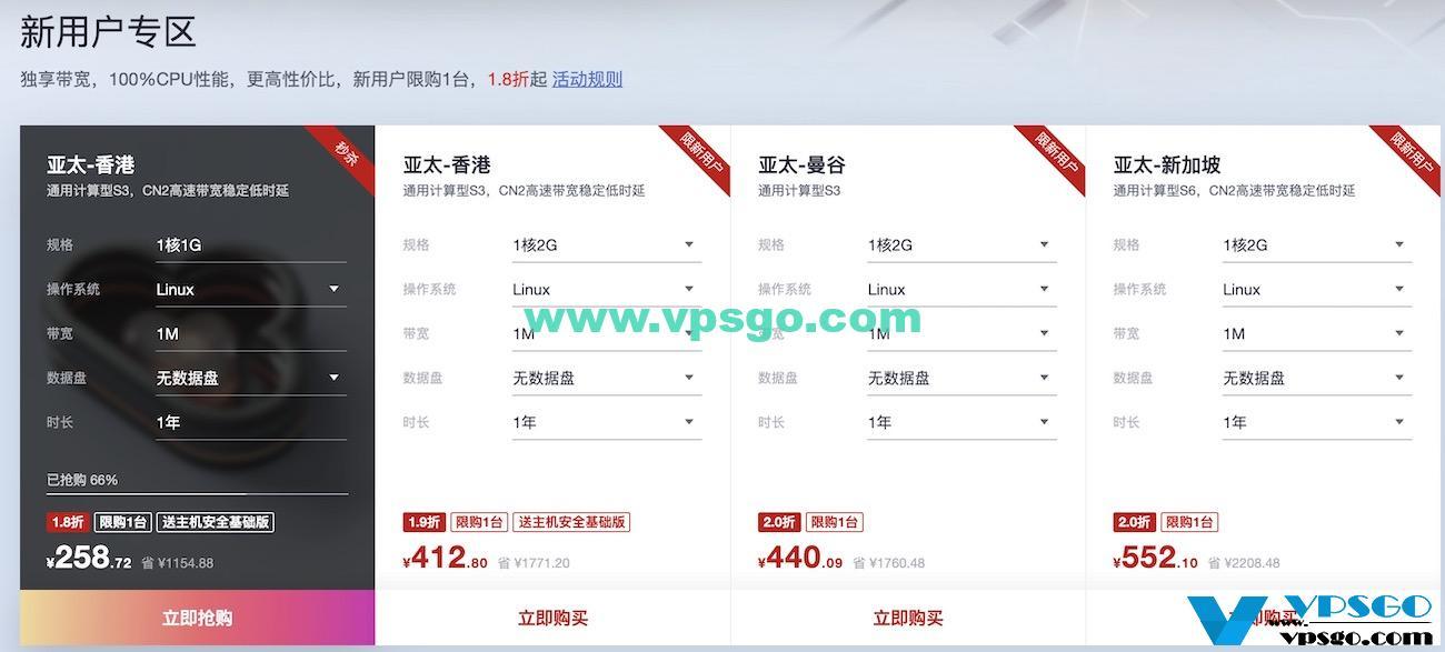 华为云618年中钜惠-海外服务器专场新用户优惠