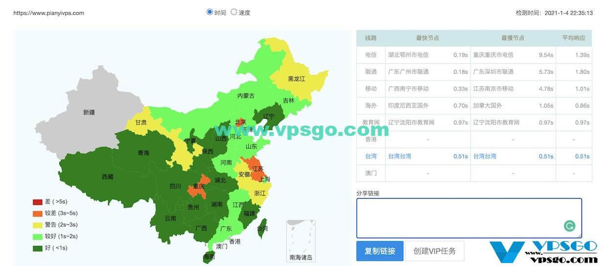 搬瓦工香港网站响应时间测试