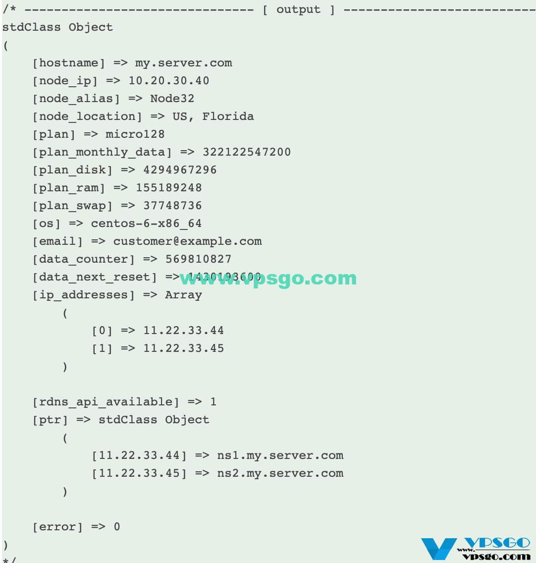 搬瓦工API输出