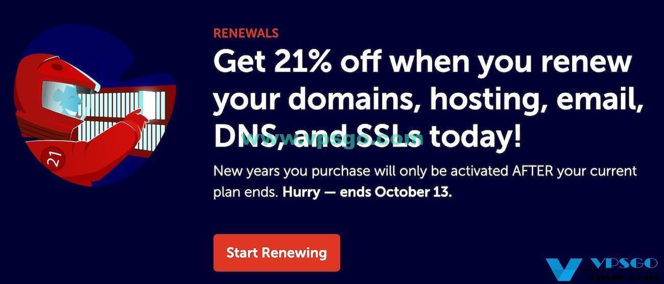 NameCheap周年促销域名续费优惠